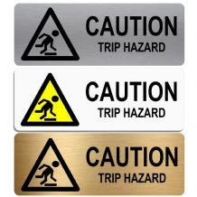 Caution Trip Hazard-WITH IMAGE-Aluminium Metal Sign-Door,Notice,Shop,Office,Business,Cafe,Pub,Safety